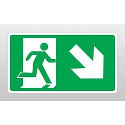 ETIKETE <evakuacijski put,desno dolje>