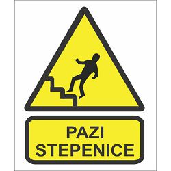 ETIKETE <pazi stepenice> A6