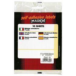 ETIKETE slep 100x46mm,Markin,3/list,pk10kom