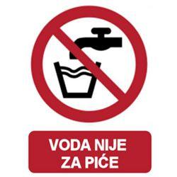 ETIKETE <voda nije za piće>