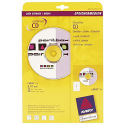 ETIKETE print fi117mm,25list,za cd,Zweckform,2et.na A4