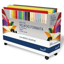 BRISTOL Color B1,200gr,10list,Arcobaleno,Arancio
