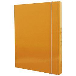 MAPA s gumicom hrbat-30mm A4 karton Fornax narančasta