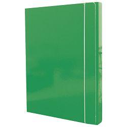 MAPA s gumicom hrbat-30mm A4 karton Fornax zelena