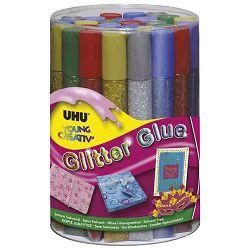 LJEPILO glitter 6boja x 20g,UHU,24kom