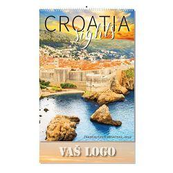 KALENDAR zidni,13 list,znamenitosti Hrvatske